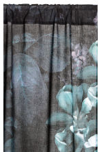 2-pack curtain lengths - Anthracite grey/Floral - Home All | H&M CN 2