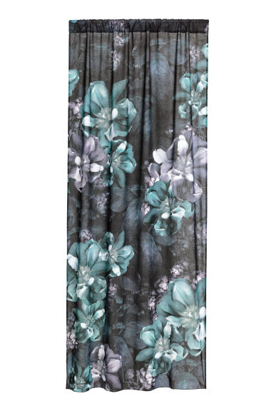 2-pack curtain lengths - Anthracite grey/Floral -  | H&M CN