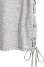 Top with lacing - Grey marl - Ladies | H&M CN 3