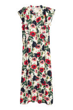 Patterned dress - Natural white/Floral - Ladies | H&M CN 2