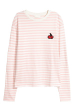 Light pink/White striped