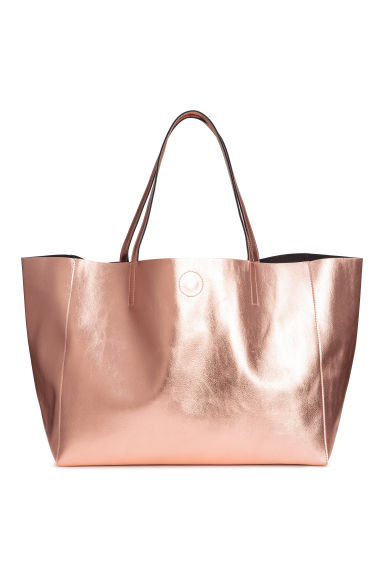 Shimmering metallic shopper - Rose gold-coloured -  | H&M IE
