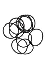 10-pack hair elastics - Black - Ladies | H&M 1