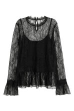 Lace top - Black - Ladies | H&M CN 2