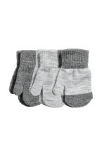 3-pack mittens - Grey marl - Kids | H&M 1