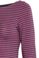 MAMA Long-sleeved jersey top - Dark grey/Pink striped - Ladies | H&M 3