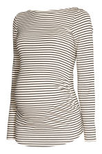 MAMA Long-sleeved jersey top - Natural white/Black striped - Ladies | H&M IE 2