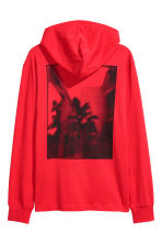 Cotton jersey hooded top - Red - Men | H&M 3