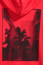 Cotton jersey hooded top - Red - Men | H&M 4