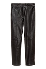 Imitation leather trousers - Black - Ladies | H&M IE 2