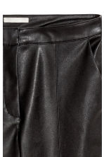Imitation leather trousers - Black - Ladies | H&M IE 3