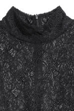 Polo-neck jumper - Black/Lace - Ladies | H&M IE 3