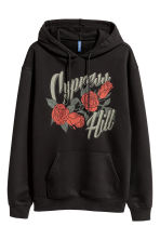 Hooded top with a print motif - Black/Cypress Hill - Men | H&M 2