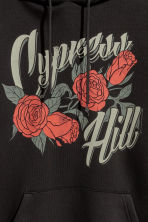 Hooded top with a print motif - Black/Cypress Hill - Men | H&M 3