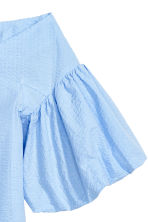 Off-the-shoulder blouse - Light blue - Ladies | H&M CN 3