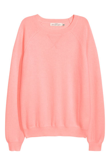 Cashmere-blend jumper - Pink - Ladies | H&M IE
