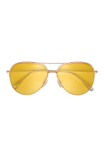 Sunglasses - Yellow/Gold-coloured - Men | H&M 2