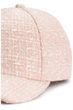 Textured cap - Powder pink - Ladies | H&M CN 3