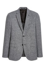 Wool-blend jacket Slim fit - Grey marl - Men | H&M CN 2