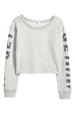 Sweat training court - Gris clair chiné - ENFANT | H&M FR 2