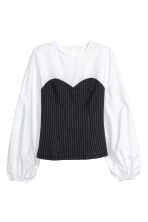 Patterned blouse - White/Pinstriped - Ladies | H&M 2
