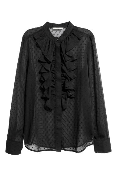 Plumeti blouse - Black - Ladies | H&M CN