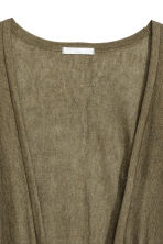 Fine-knit cardigan - Khaki green -  | H&M 3