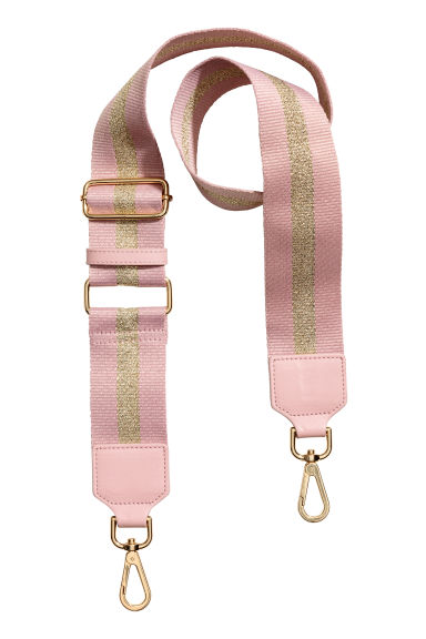 Shoulder strap - Powder pink/Gold-coloured - Ladies | H&M GB