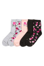 5-pack socks - Black/Patterned - Kids | H&M CN 1