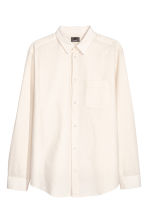 Linen-blend shirt Relaxed fit - Light beige - Men | H&M 2