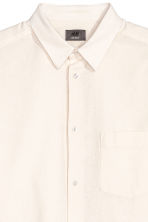 Linen-blend shirt Relaxed fit - Light beige - Men | H&M 3