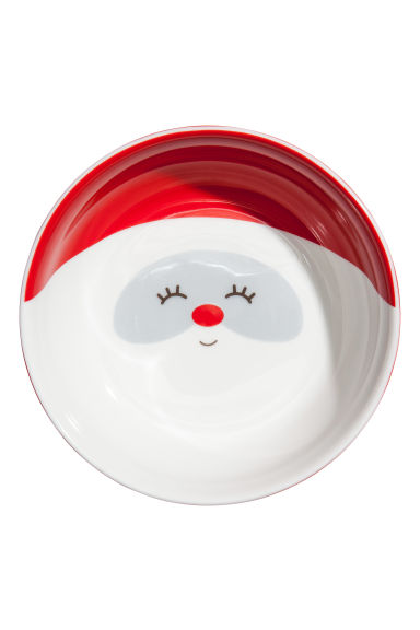 Christmas-motif bowl - White/Christmas elf - Home All | H&M GB