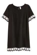 Short-sleeved dress - Black - Ladies | H&M CN 2