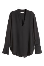 V-neck blouse - Black - Ladies | H&M GB 2