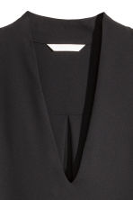 V-neck blouse - Black - Ladies | H&M GB 3