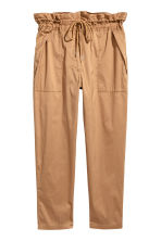 Premium cotton-blend trousers  - Beige - Ladies | H&M CA 2