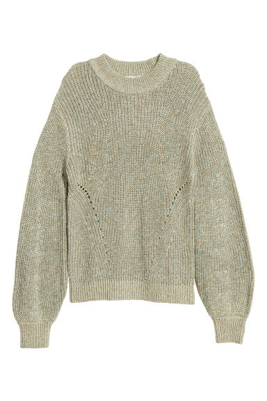 Knitted jumper - Green marl - Ladies | H&M