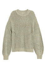 Pull en maille - Vert chiné - FEMME | H&M BE 2