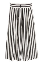 Wide trousers - Black/White/Striped - Ladies | H&M 2