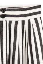 Wide trousers - Black/White/Striped -  | H&M 3