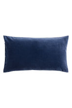 Cotton velvet cushion cover - Dark blue - Home All | H&M CN 1