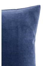 Cotton velvet cushion cover - Dark blue - Home All | H&M CN 2