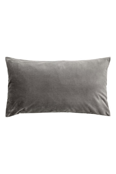 Housse de coussin en velours - Gris - Home All | H&M CA 1