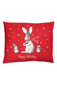 Christmas-print pillowcase