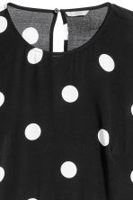H&M+ Crêpe dress - Black/White spotted - Ladies | H&M 2