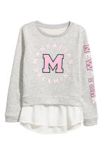 Sweatshirt with Printed Design - Gray - Kids | H&M CA 2