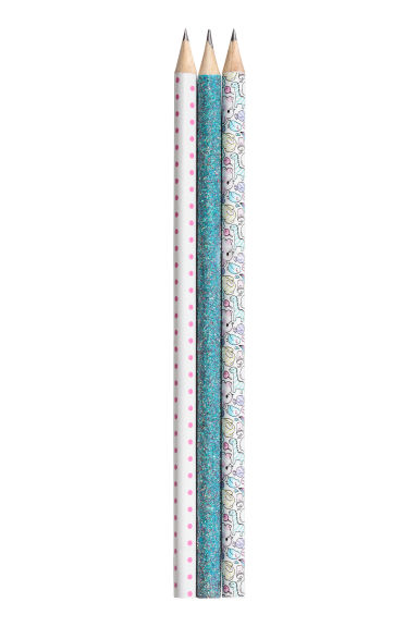 3-pack pencils - White/Patterned -  | H&M 1
