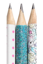 3-pack pencils - White/Patterned -  | H&M 3