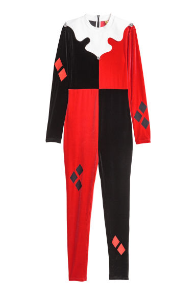 Jester costume - Red/Black - Ladies | H&M