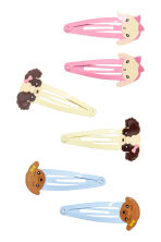 6-pack hair clips - Blue - Kids | H&M CN 1